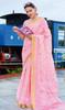 Baby Pink Color Printed Cotton Saree