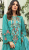 Georgette Designer Embroidered Pant Style Suit in Sky Blue Color