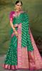 Silk Green Color Weaving Sari