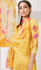 Yellow Color Loan Cotton Printed Palazzo Suit