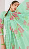 Green Color Loan Cotton Printed Palazzo Suit
