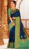 Blue Color Weaving Silk Sari