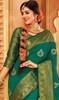 Green Color Indian Weaving Silk Sari