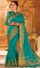 Sea Green Color Weaving Silk Sari
