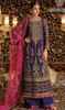 Georgette Magenta Color Embroidered Palazzo Suit