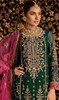 Georgette Bottle Green Color Embroidered Palazzo Suit