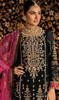 Georgette Embroidered  Black Color Palazzo Suit