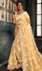 Designer Light Yellow Color Fancy Net Sari