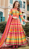 Silk Multicolor Printed Gown