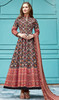 Silk Printed Multicolor Gown