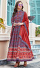 Printed Silk Multicolor Gown