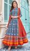 Multicolor Silk Fancy Printed Gown