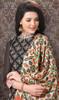 Black Color Chanderi Silk Printed Churidar Suit