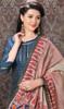 Teal Blue Color Banarasi Silk Printed Churidar Suit