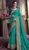 Rama Color Satin Silk Embroidered Sari