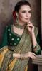 Yellow Color Satin Silk Embroidered Sari