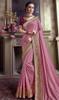 Baby Pink Color Satin Silk Embroidered Sari