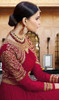 Embroidered Georgette Anarkali Suit in Maroon Color