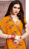 Mustard Yellow Color Georgette Embroidered Sari
