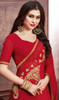 Georgette Embroidered Red Color Sari