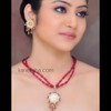 Gold Plated Thewa Necklace Set Accented with Cubic Zircons