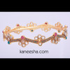 Multicolor Enamel Goldplated Bangle-50% price reduction