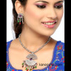 Splendid Silver Plated Cubic Zircon Necklace Set