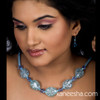 Chunky Blue Beaded Fashion Necklace