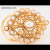 Gold Plated Faux Pearl Fashion Ring