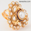 Traditional Faux Pearl Ring