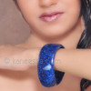 Blue Silver Glass Bangle