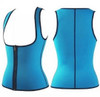 Blue Waist Trainer Front Zipper for Women Neoprene Body Shaper for Gym Workout Waist Training FREE Shipping.