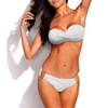 Bikini Two Piece White Push Up Swimsuit for Women Sexy Bathing Suit Brazilian Bikini Swimwear with Metal Ring FREE Eyeglass Pouch by Kaneesha - FREE SHIPPING