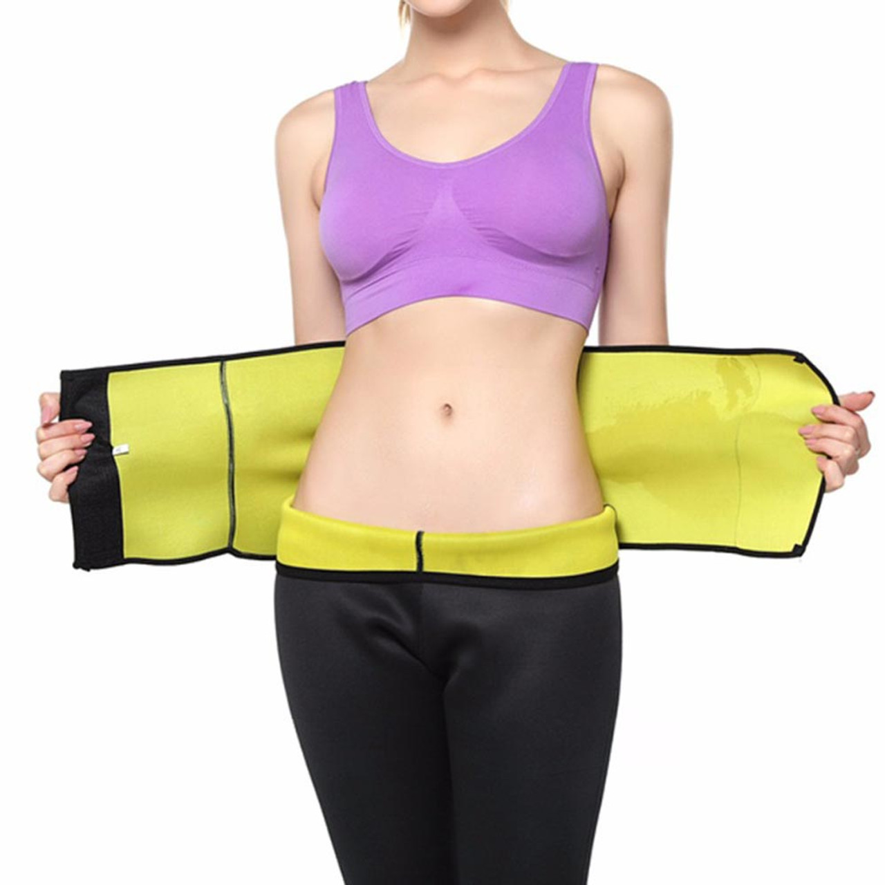 0da340e645917 Neoprene Womens Ab Shaper Adjustable Belt Velcro Waist Trimmer Sweat  Slimming Belt for Weight Loss by Kaneesha - FREE SHIPPING - www.kaneesha.com