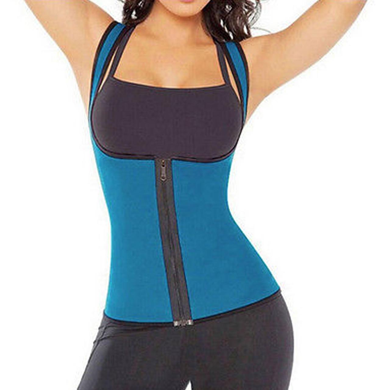 3e2054b517 Blue Waist Trainer Front Zipper for Women Neoprene Body Shaper for Gym  Workout Waist Training FREE Shipping. - www.kaneesha.com