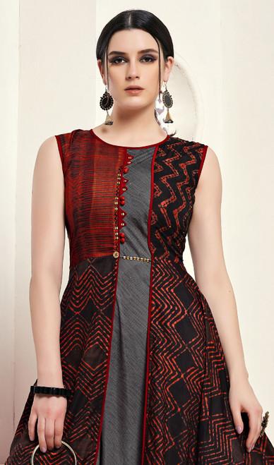Multi Color Shaded Silk Tunic