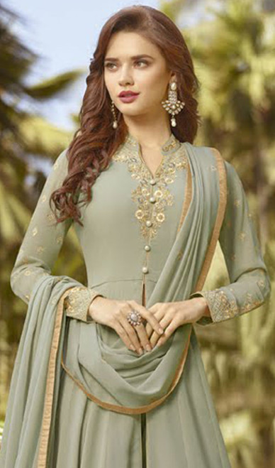 Anarkali Suit in Rakhodi Color Shaded Georgette