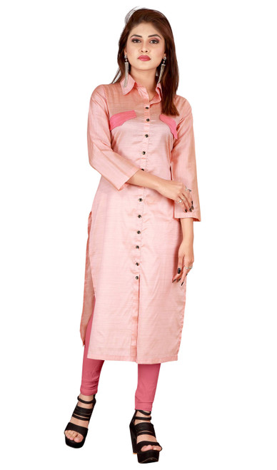 Pink Color Shaded Silk Tunic