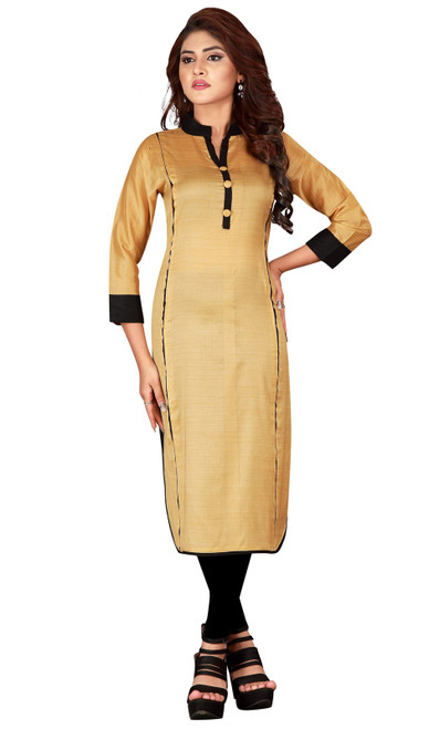 Shaded Beige Color  Silk Tunic
