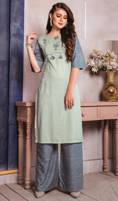 Light Pista Color Shaded Cotton Tunic