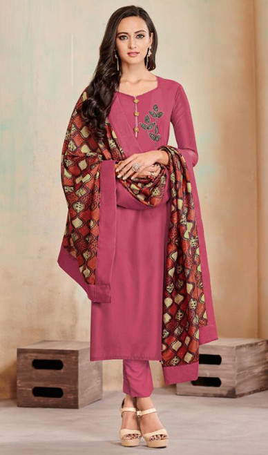Tunic, Cotton Fabric in Pink Color Shaded