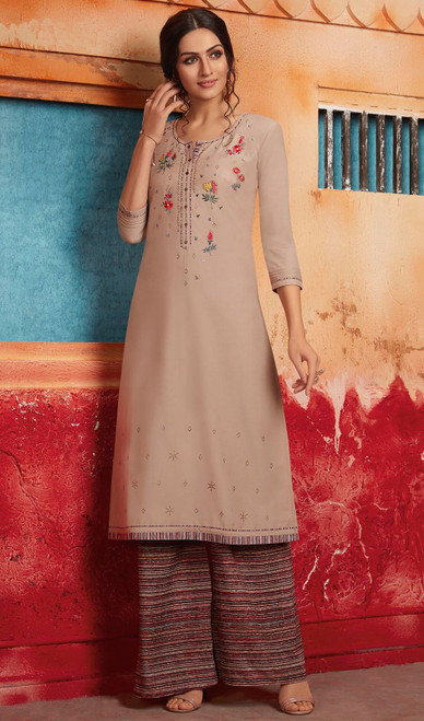 Cream Color Shaded Maslin Tunic