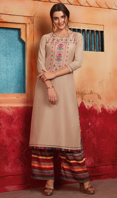 Maslin Tunic in Cream Color Shaded