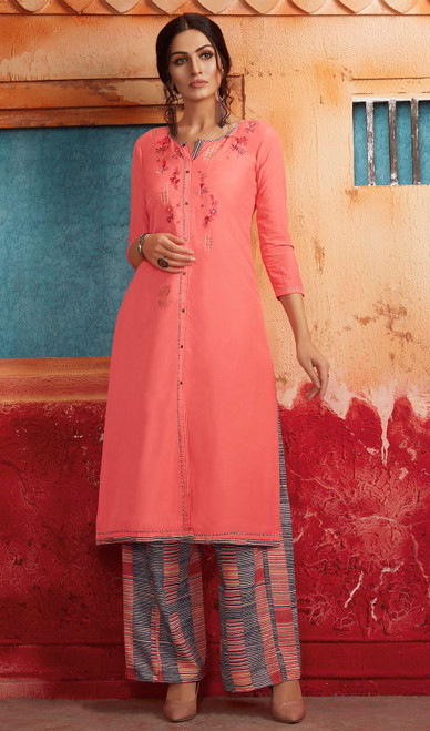Peach Color Shaded Maslin Tunic