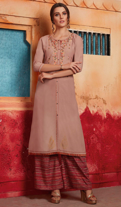Tunic in Rakhodi Color Shaded Maslin
