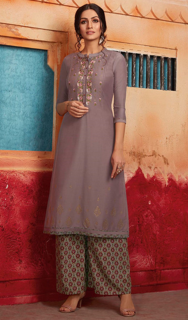 Tunic, Maslin Fabric in Beige Color Shaded