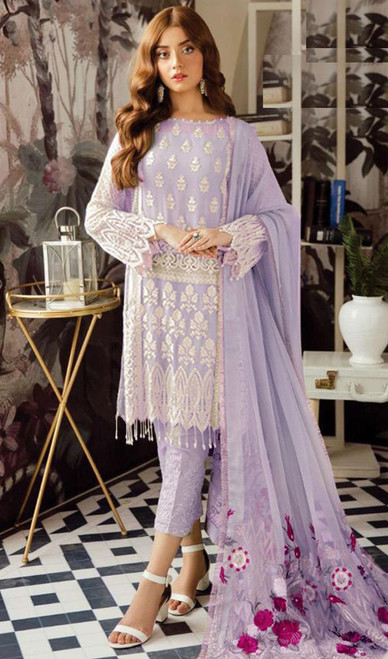 Lavender Color Shaded Georgette Suit