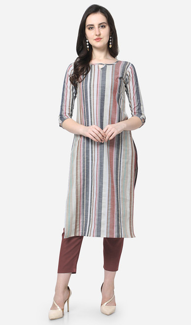 Printed Cotton Multicolor Kurti