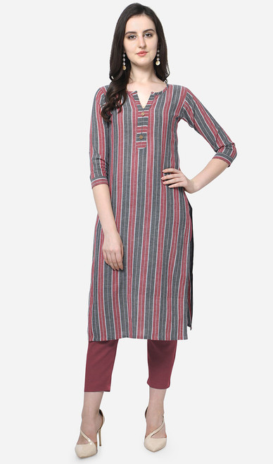 Printed Multicolor Cotton Kurti