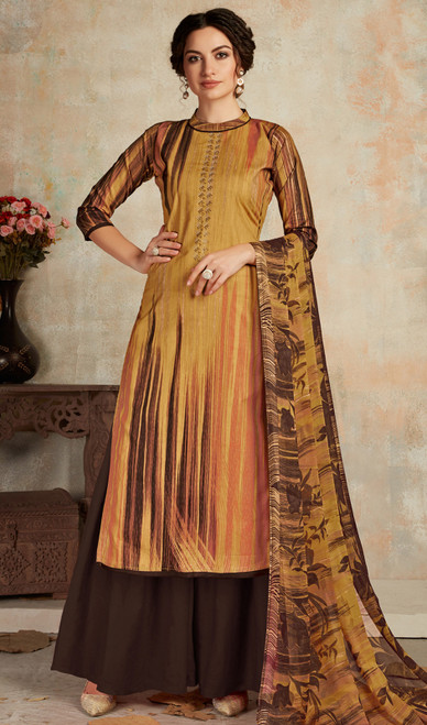 Multicolor Cambric Cotton Printed Palazzo Suit